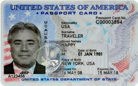 United States Passport Card sample image